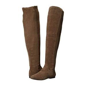 Lucky Brand Suede Knee High boots (tan) sz8